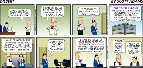 Dilbert on Working From Home