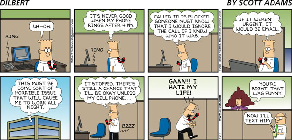 Dilbert on Phone Calls