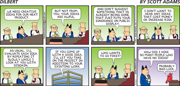 Dilbert on Creative Ideas