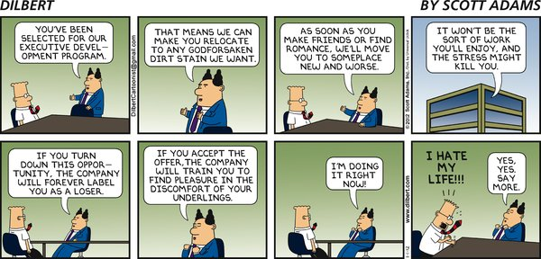 Dilbert on Executive Development