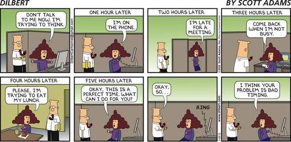 Dilbert on Bad Timing