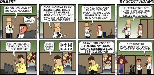 Dilbert on Code Mocking