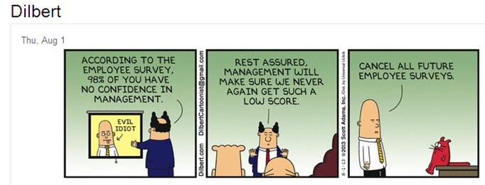 Dilbert on Employee Surveys