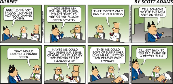 Dilbert on Change Management