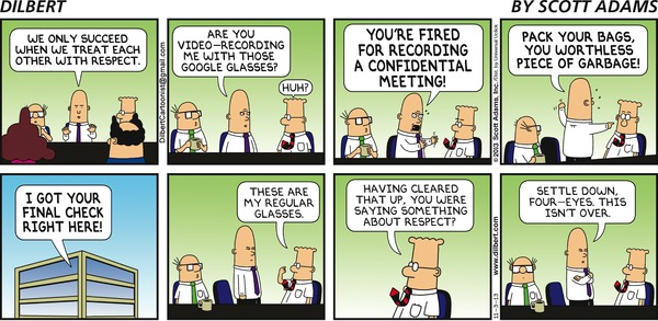 Dilbert on Google Glasses
